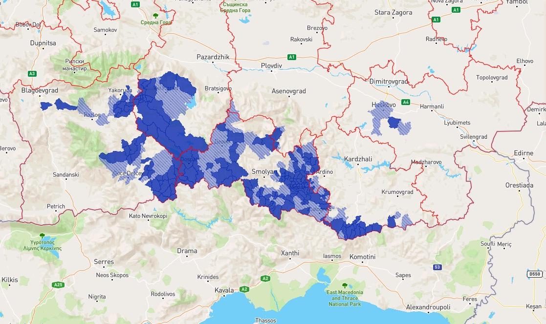 карта помаци