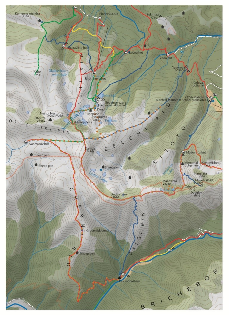 seven rila lakes map